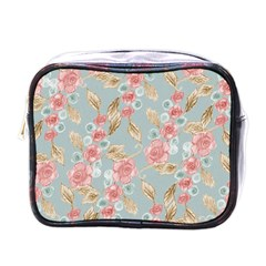Background Page Template Floral Mini Toiletries Bags