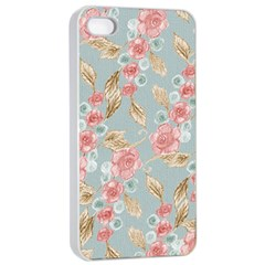 Background Page Template Floral Apple Iphone 4/4s Seamless Case (white) by Amaryn4rt