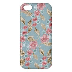 Background Page Template Floral Iphone 5s/ Se Premium Hardshell Case by Amaryn4rt