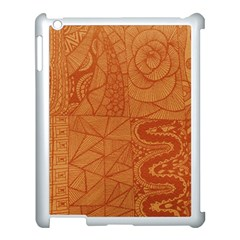 Burnt Amber Orange Brown Abstract Apple Ipad 3/4 Case (white) by Amaryn4rt