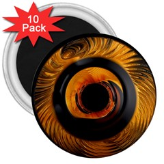Fractal Mathematics Abstract 3  Magnets (10 Pack)  by Amaryn4rt