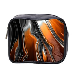 Fractal Structure Mathematics Mini Toiletries Bag 2 Side by Amaryn4rt