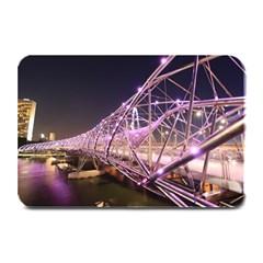 Helixbridge Bridge Lights Night Plate Mats by Amaryn4rt