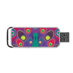 Peacock Bird Animal Feathers Portable Usb Flash (two Sides)