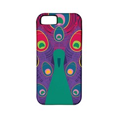 Peacock Bird Animal Feathers Apple Iphone 5 Classic Hardshell Case (pc+silicone)