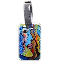 Graffiti Wall Color Artistic Luggage Tags (one Side)  by Amaryn4rt
