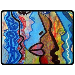 Graffiti Wall Color Artistic Double Sided Fleece Blanket (large)  by Amaryn4rt