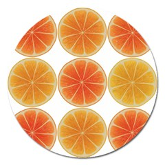 Orange Discs Orange Slices Fruit Magnet 5  (round) by Amaryn4rt