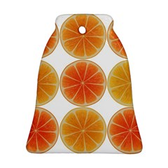 Orange Discs Orange Slices Fruit Bell Ornament (2 Sides) by Amaryn4rt