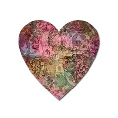 Texture Background Spring Colorful Heart Magnet by Amaryn4rt