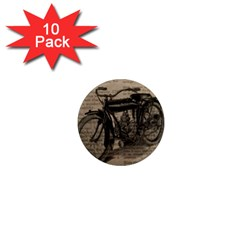 Vintage Collage Motorcycle Indian 1  Mini Magnet (10 Pack)  by Amaryn4rt