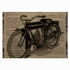 Vintage Collage Motorcycle Indian Large Glasses Cloth (2 Side) by Amaryn4rt