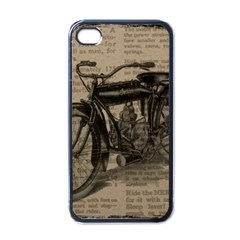 Vintage Collage Motorcycle Indian Apple Iphone 4 Case (black) by Amaryn4rt
