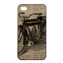 Vintage Collage Motorcycle Indian Apple Iphone 4/4s Seamless Case (black) by Amaryn4rt
