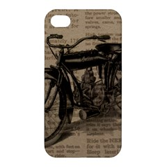 Vintage Collage Motorcycle Indian Apple Iphone 4/4s Premium Hardshell Case by Amaryn4rt