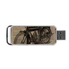 Vintage Collage Motorcycle Indian Portable Usb Flash (one Side)