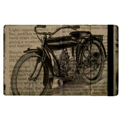 Vintage Collage Motorcycle Indian Apple Ipad 3/4 Flip Case by Amaryn4rt