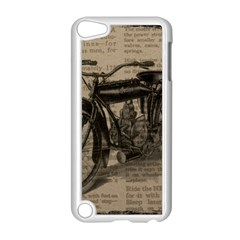 Vintage Collage Motorcycle Indian Apple Ipod Touch 5 Case (white) by Amaryn4rt