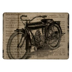 Vintage Collage Motorcycle Indian Samsung Galaxy Tab 10 1  P7500 Flip Case