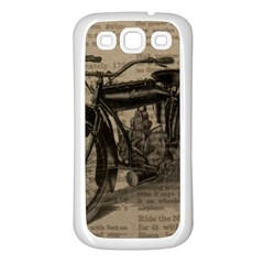 Vintage Collage Motorcycle Indian Samsung Galaxy S3 Back Case (white) by Amaryn4rt