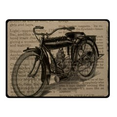 Vintage Collage Motorcycle Indian Double Sided Fleece Blanket (small)  by Amaryn4rt