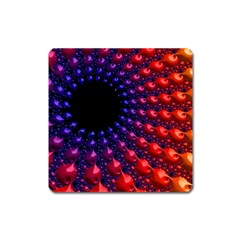 Fractal Mathematics Abstract Square Magnet by Amaryn4rt