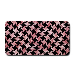 Houndstooth2 Black Marble & Red & White Marble Medium Bar Mat by trendistuff