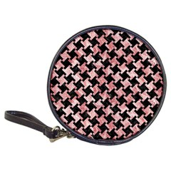 Houndstooth2 Black Marble & Red & White Marble Classic 20 Cd Wallet by trendistuff