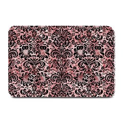 Damask2 Black Marble & Red & White Marble (r) Plate Mat by trendistuff