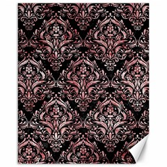 Damask1 Black Marble & Red & White Marble Canvas 16  X 20