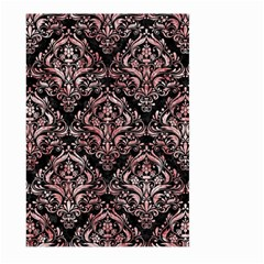 Damask1 Black Marble & Red & White Marble Large Garden Flag (two Sides) by trendistuff
