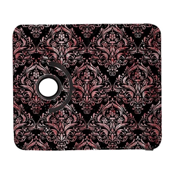 DAMASK1 BLACK MARBLE & RED & WHITE MARBLE Samsung Galaxy S  III Flip 360 Case