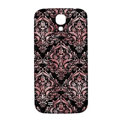 Damask1 Black Marble & Red & White Marble Samsung Galaxy S4 I9500/i9505  Hardshell Back Case by trendistuff