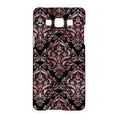 Damask1 Black Marble & Red & White Marble Samsung Galaxy A5 Hardshell Case