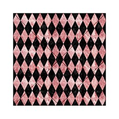 Diamond1 Black Marble & Red & White Marble Acrylic Tangram Puzzle (6  X 6 ) by trendistuff