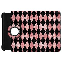 Diamond1 Black Marble & Red & White Marble Kindle Fire Hd Flip 360 Case by trendistuff