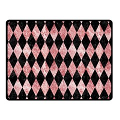 Diamond1 Black Marble & Red & White Marble Double Sided Fleece Blanket (small) by trendistuff