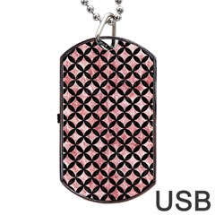 Circles3 Black Marble & Red & White Marble (r) Dog Tag Usb Flash (two Sides) by trendistuff