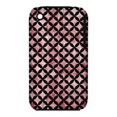 Circles3 Black Marble & Red & White Marble (r) Apple Iphone 3g/3gs Hardshell Case (pc+silicone) by trendistuff