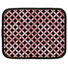 Circles3 Black Marble & Red & White Marble Netbook Case (xxl) by trendistuff