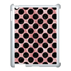 Circles2 Black Marble & Red & White Marble (r) Apple Ipad 3/4 Case (white) by trendistuff