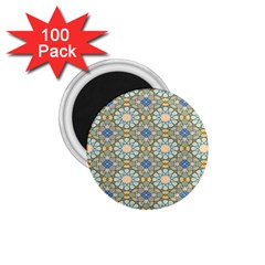 Arabesque Flower Star 1 75  Magnets (100 Pack)  by AnjaniArt