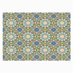 Arabesque Flower Star Large Glasses Cloth (2 Side) by AnjaniArt