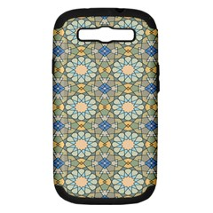 Arabesque Flower Star Samsung Galaxy S Iii Hardshell Case (pc+silicone) by AnjaniArt