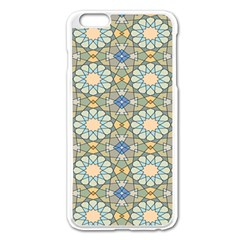 Arabesque Flower Star Apple Iphone 6 Plus/6s Plus Enamel White Case by AnjaniArt