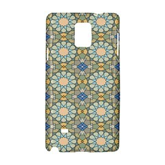 Arabesque Flower Star Samsung Galaxy Note 4 Hardshell Case by AnjaniArt