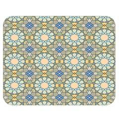 Arabesque Flower Star Double Sided Flano Blanket (medium)  by AnjaniArt