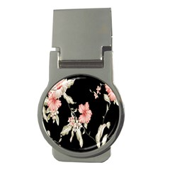 Buds Petals Dark Flower Pink Money Clips (round)  by AnjaniArt