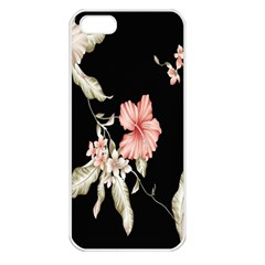 Buds Petals Dark Flower Pink Apple Iphone 5 Seamless Case (white) by AnjaniArt