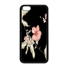 Buds Petals Dark Flower Pink Apple Iphone 5c Seamless Case (black) by AnjaniArt
